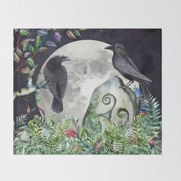 Raven Moon Magick Throw Blanket