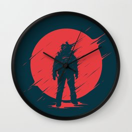 Red Sphere Wall Clock