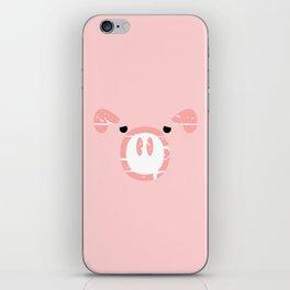 Cute Pink Pig face iPhone Skin