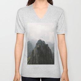 Flying Mountain Explorer - Landscape Photography Unisex V-Neck
