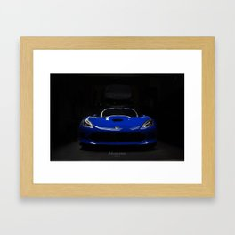 Viper In The Dark Framed Art Print