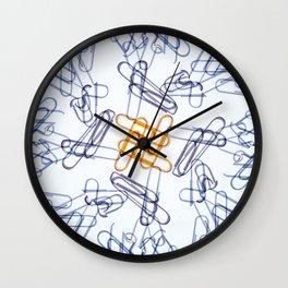 Kaleidoscope -Paper Clips Wall Clock