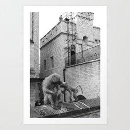 Tower Monkeys 2 Art Print