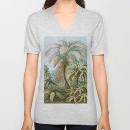 Vintage Fern and Palm Tree Art - Haeckel, 1904 Unisex V-Neck