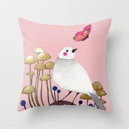pink wall Throw Pillow