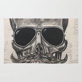 hipster skull Rug