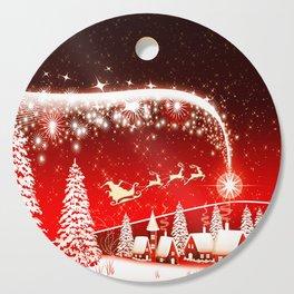 Santa Beautiful Christmas Cutting Board