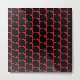 Red with black spots Metal Print
