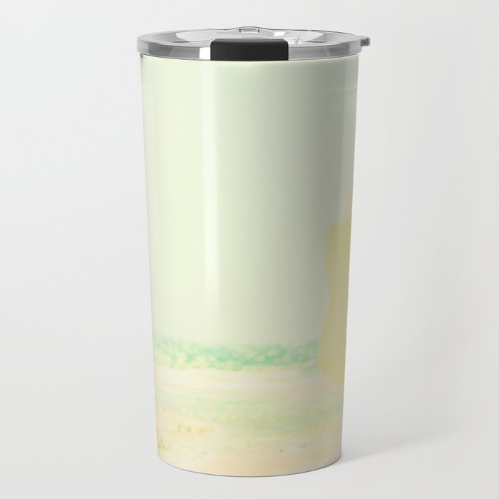beach - the yellow umbrella Travel Mug
