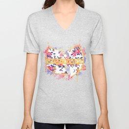Wutang Wednesday Floral Print Redesign  Unisex V-Neck