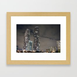 Marilyn Monroe Buildings Framed Art Print