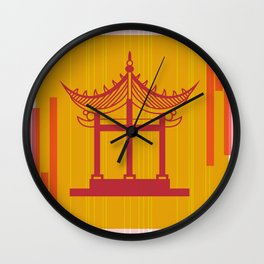 Toyko Inspired Throw Pillow Wall Clock