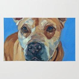 Happy the Bully Dog Portrait Rug