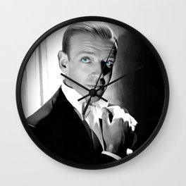 Fred Astaire Portrait Wall Clock