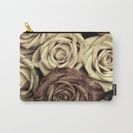 Brown Roses Carry-All Pouch