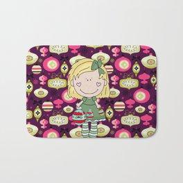 The Cute Little Ornament Girl Bath Mat