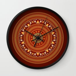 Exotic Autumn Wall Clock