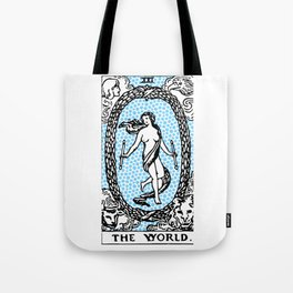 Modern Tarot Design - 21 The World Tote Bag