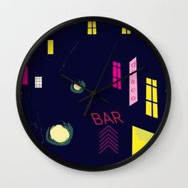 Paris Nightclub Wall Clock