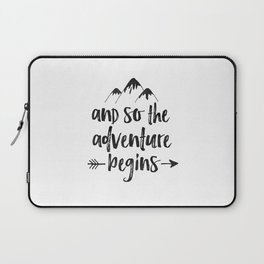 And So The Adventure Begins Sign,Adventure Awaits,Adventure Nursery,Kids Room Decor,Quote Posters,Pr Laptop Sleeve