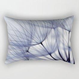 Dandelion In Blue No.2 Rectangular Pillow