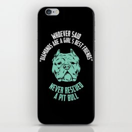 Never Rescued A Pit Bull iPhone Skin