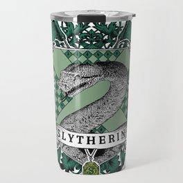 Slytherin Color Crest Travel Mug