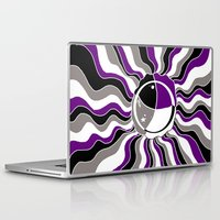 asexual Laptop & iPad Skins featuring A Splash Jelly by Nekodra