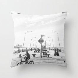 69th Street Pier Throw Pillow