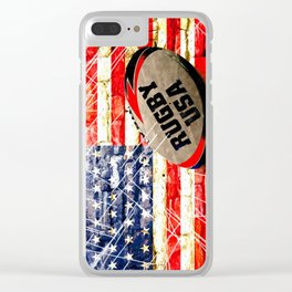 American Rugby Clear iPhone Case