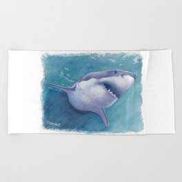Great White Shark Beach Towel