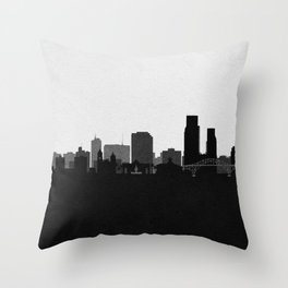 City Skylines: Corpus Christi Throw Pillow