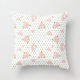 """""""Roses & Dots"""" Throw Pillow"""