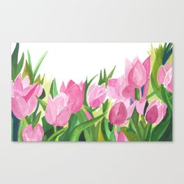 Spring is Near - Pink Tulips Canvas Print