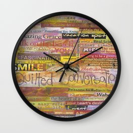 Quilted Conversations Wall Clock