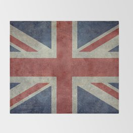 England's Union Jack, Dark Vintage 3:5 scale Throw Blanket