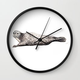 Harbour Seal Wall Clock