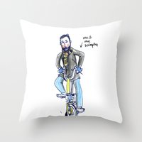 brompton Throw Pillows featuring Me and My Brompton by Swasky