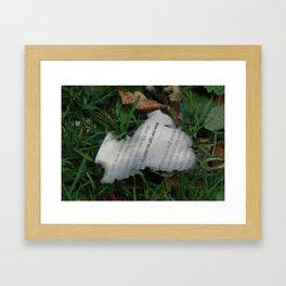 Burning paper flame Framed Art Print