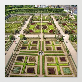 The Gardens at Chateau Villandry in France Canvas Print