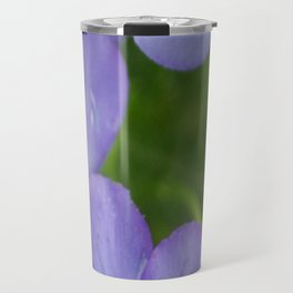 Purple Pansies Travel Mug
