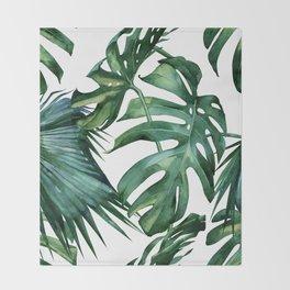 Simply Island Palm Leaves Throw Blanket