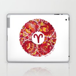 Aries in Petrykivka style (with signature) Laptop & iPad Skin