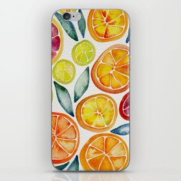 Sliced Citrus Watercolor iPhone Skin