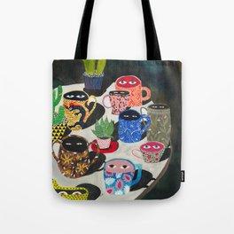 Suspicious mugs Tote Bag