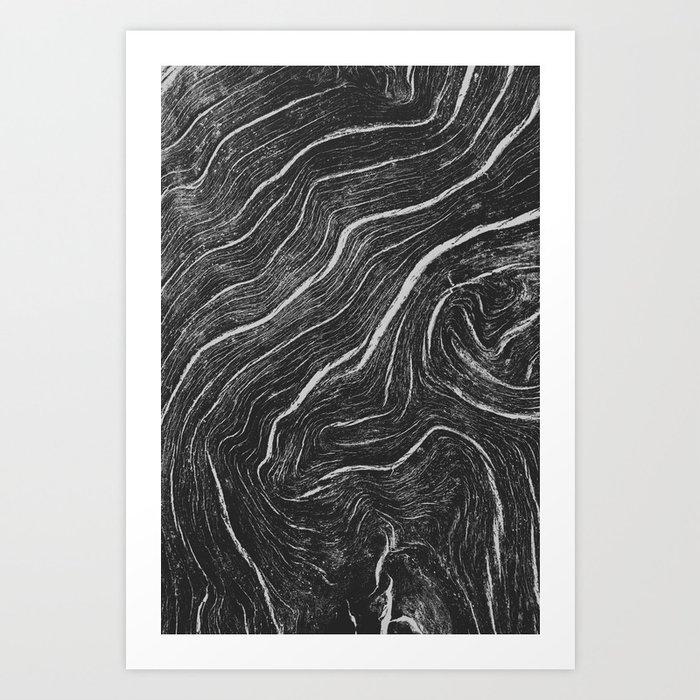 WOOD LINES I Art Print