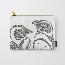 Vanishing Penguins by Black Dwarf Designs Carry-All Pouch