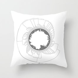 Tree of Life (White) Throw Pillow