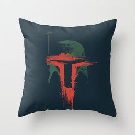Boba Fett Art - StarWars Fan Painting Throw Pillow
