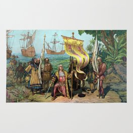 Columbus Taking Possession Of The New Country Rug